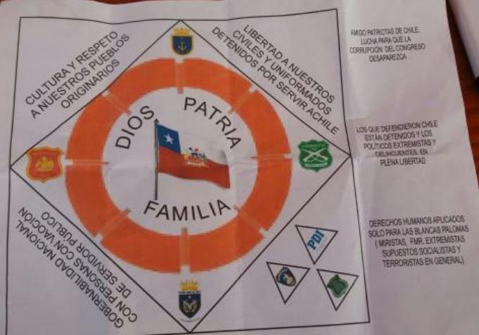 Panfleto lanzado a la vivienda del alcalde de Renaico | Comunicado de Prensa