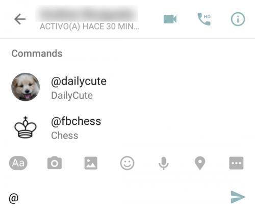 Captura de pantalla a Messenger