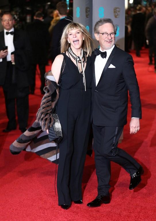 Steven Spielberg (y su esposa Kate Capshaw | AFP