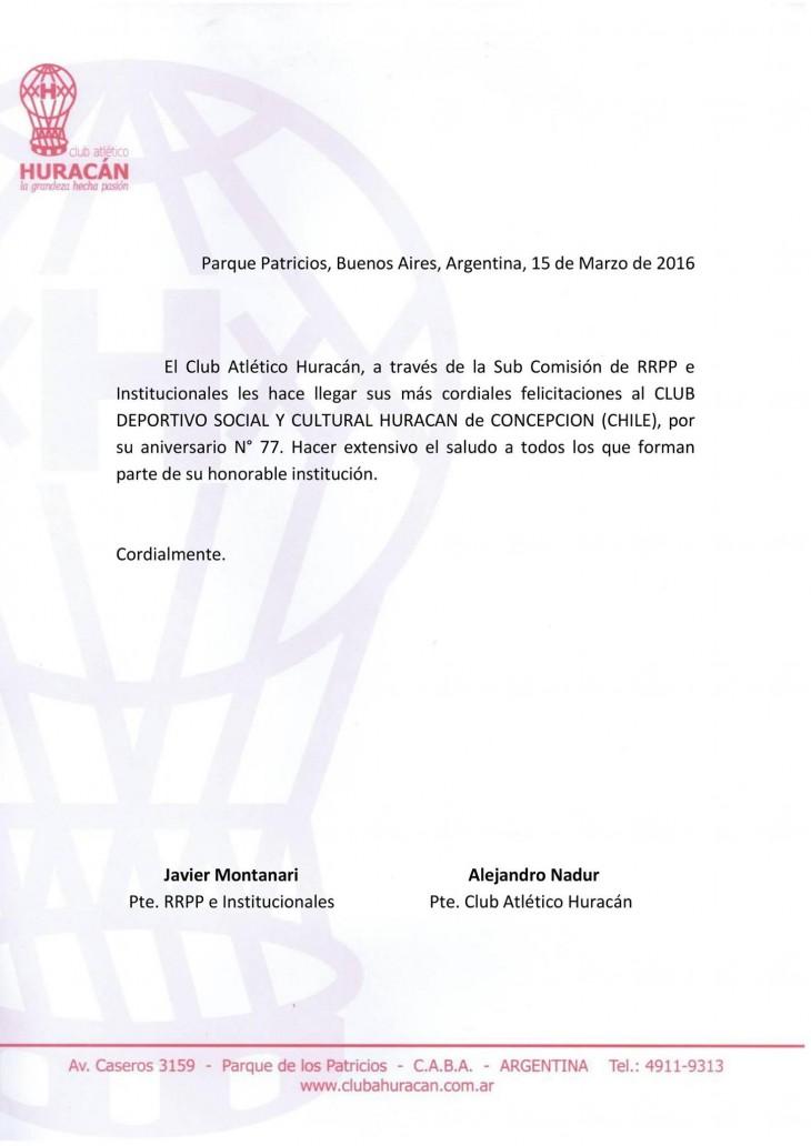 RRPP e institucionales del Club Atlético Huracan I Facebook