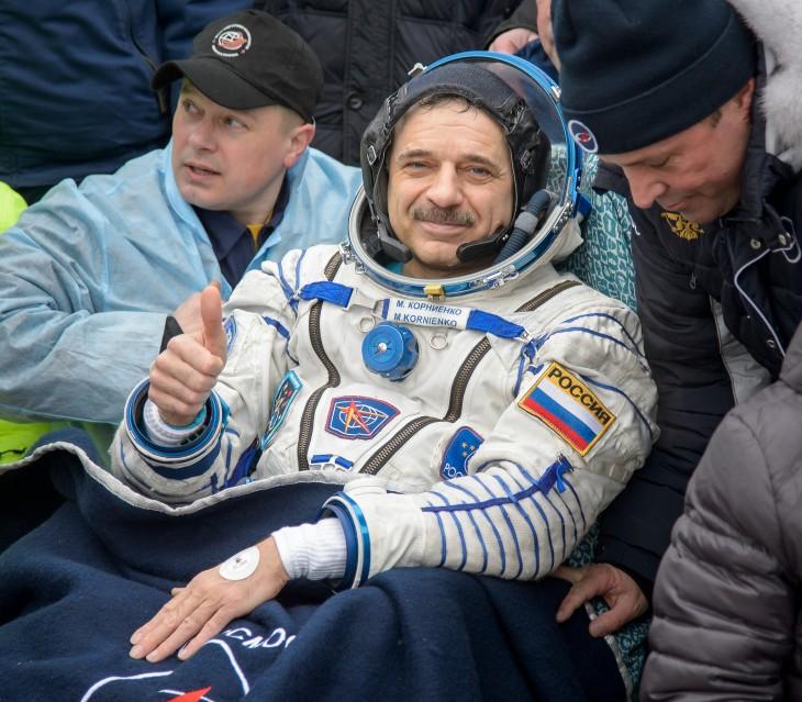 El cosmonauta ruso Mikhail Kornienko | NASA/Bill Ingalls