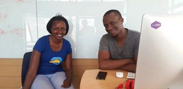 Sevelyn Gat  junto a Sam Gichuru | Facebook