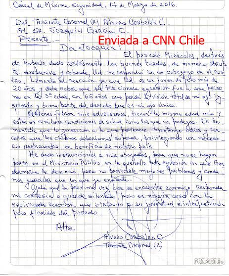 Carta escrita por Álvaro Corbalán | CNN Chile