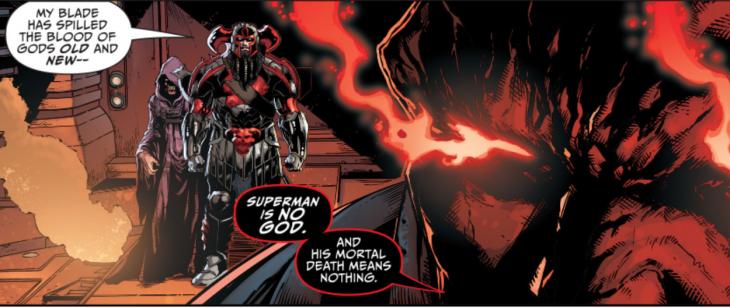 Steppenwolf en medio y Darkseid dando la espalda | DC Comics