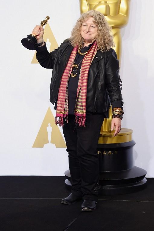Jenny Beavan en la sala de prensa de los Óscar | AFP