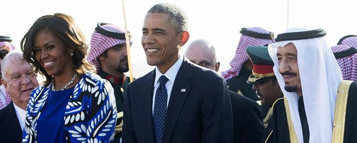 Michelle Obama negándose a llevar velo en Arabia Saudita | ABC