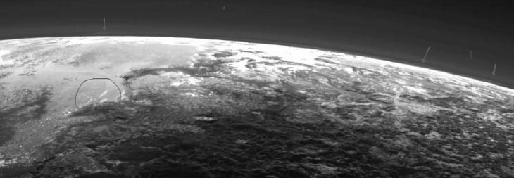 En esta imagen ya se sugieron algunas nubes individuales en Plutón | NASA / JHUAPL / SwRI
