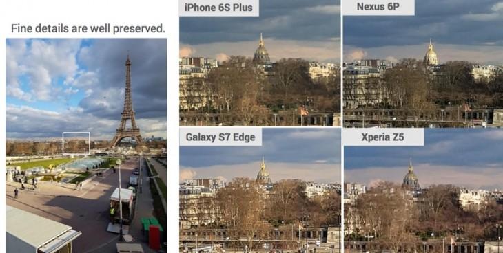 """En """"textura"""" el S7 fue sólo superado por el Nexus 6P de Huawei / dxomark.com"""
