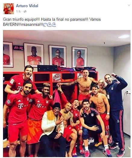 Arturo Vidal | Facebook