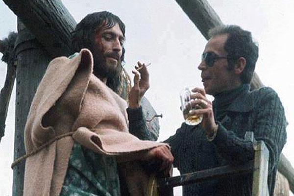 Franco Zeffirelli en el rodaje de Jesús de Nazaret