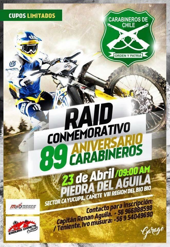 Afiche Raid Conmemorativo