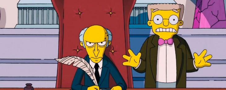 El Señor Burns y Smithers | Los Simpsons