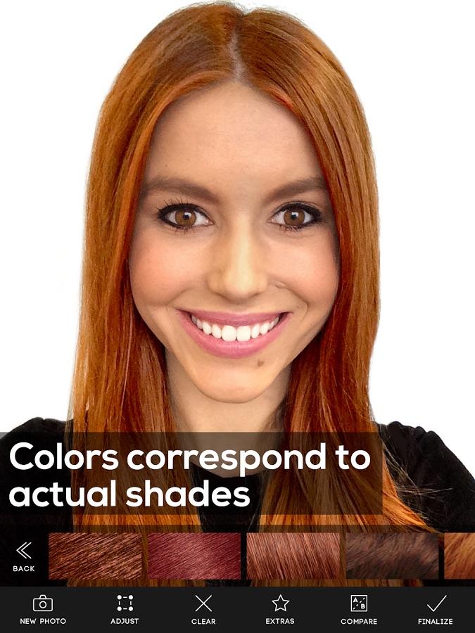Hair color Studio de Modiface - Googleplay