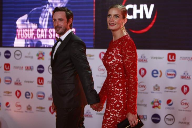 Javiera Acevedo junto a su ex pareja,  José Martínez | Agencia UNO