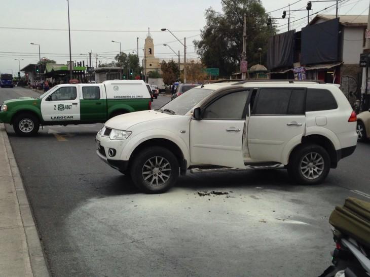 Auto en que perpetraron el robo | Felipe Cornejo | RBB