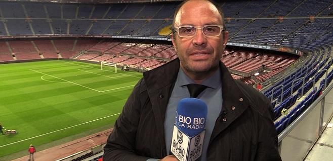 Eugenio Salinas en el Camp Nou