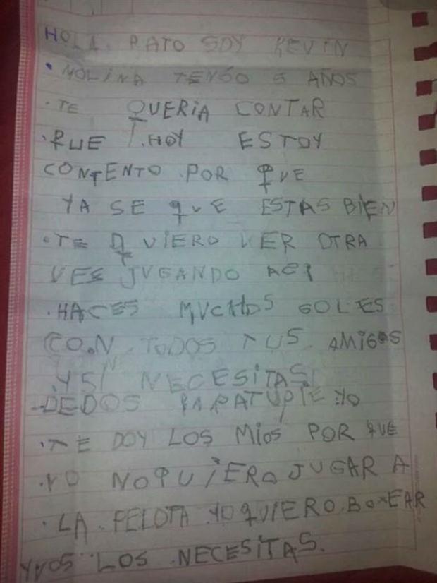 Carta Kevin Molina