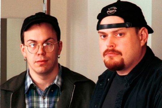 Los hermanos Wachowski antes de declarar su transexualidad
