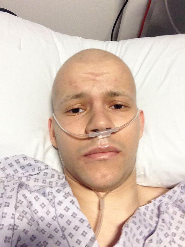 Byron durante la quimioterapia
