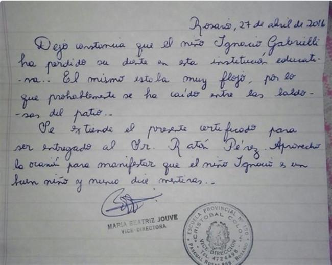 Carta a Ratón Pérez
