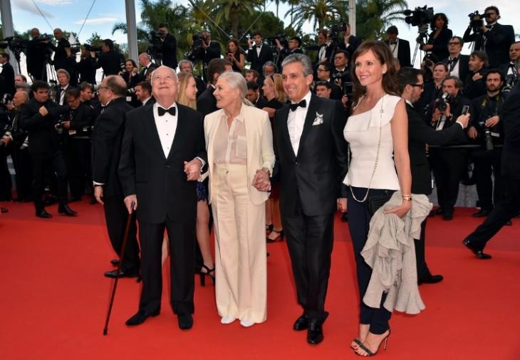 James Ivory y Vanessa Redgrave (a la izquierda) | AFP