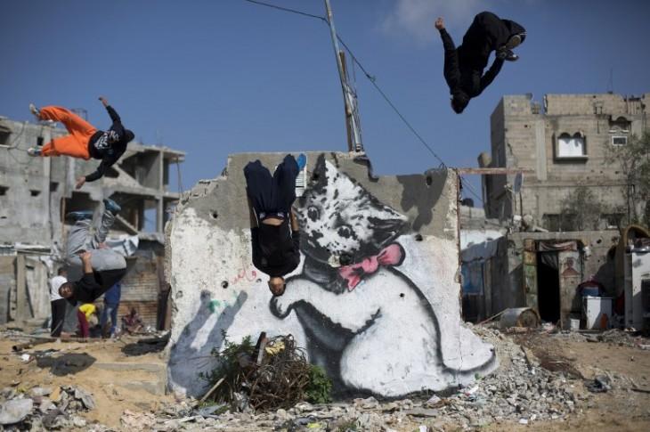 Banksy en Israel | AFP