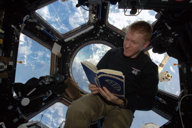 Tim Peake en la zona donde recibió el impacto de una basura espacial | ESA/NASA
