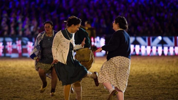 Artistas actúan durante la celebración. | AFP