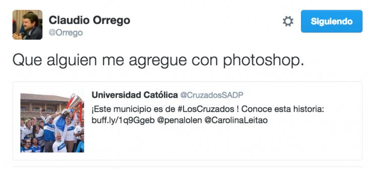 El mensaje en Twitter de @Orrego