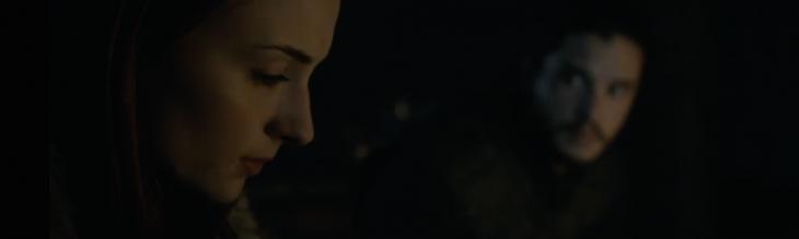 Sansa Stark y Jon Snow en el Castillo Negro | HBO