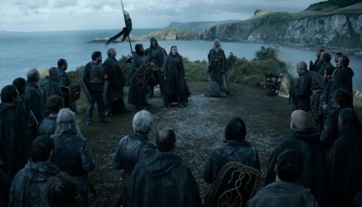 Asha Greyjoy en ceremonia de coronación en las Islas de Hierro | HBO
