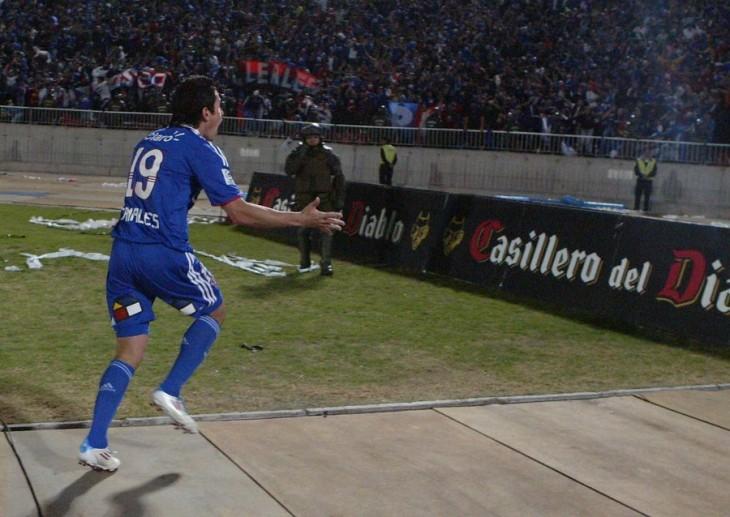 Canales celebra gol a Católica | Archivo | Agencia UNO