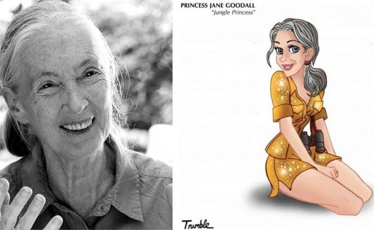 A Dame Jane Morris Goodall se le considera la mayor experta en chimpancés, y es conocida por sus estudios sobre las interacciones sociales y familiares de estos animales en Tanzania, además de trabajar en asuntos de bienestar animal.