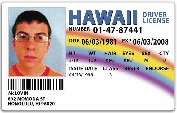 Licencia de McLovin en Superbad (2007)