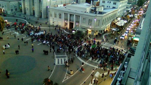 Marcha en Plaza Independencia de Concepción | @AlfonsoLevet | Twitter