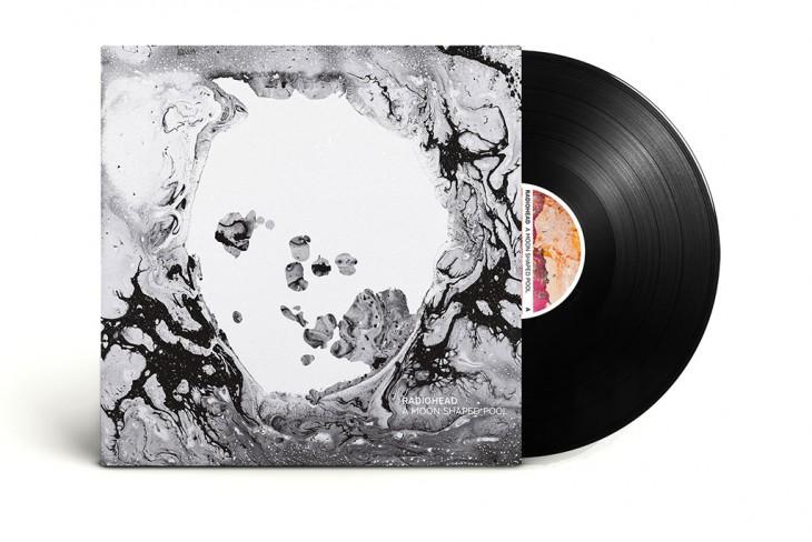 Carátula de la versión en vinilo de A moon shaped pool.