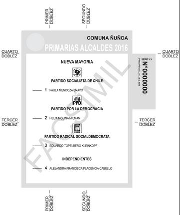 Ejemplo Voto Ñuñoa Primarias
