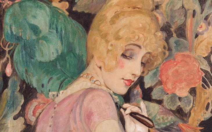Gerda Wegener, Lili con abanico de plumas (detalle), 1920. Foto - Morten Pors