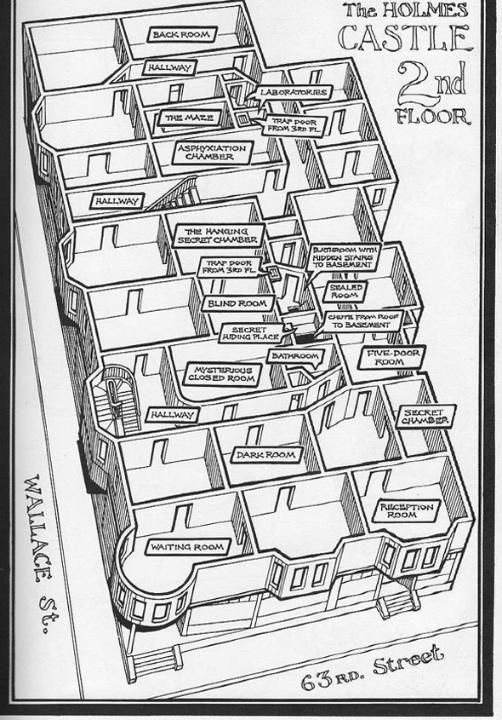 Plano con las distintas salas del hotel