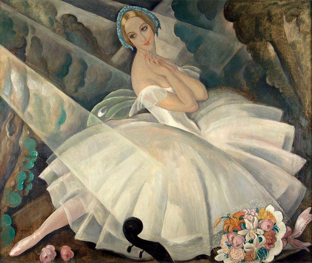 Ulla Poulsen en ballet Chopiniana por Gerda Wegener en 1927. Fotografía Dominio público