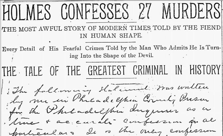 7 Confesión de H.H. Holmes _ Copyright Philadelphia Inquirer