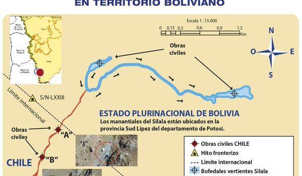 Silala según Bolivia (haz clic para ampliar la imagen) | Ministerio de Defensa de Bolivia | @mindefbolivia