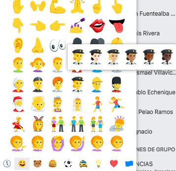 Parte de los nuevos emojis de Facebook | BBCL