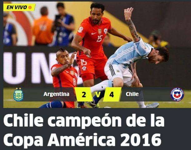 Medios internacionales, reacciones final copa centenario 5