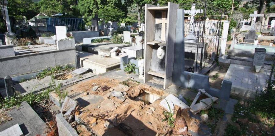 La tumba profanada de Gallegos | Facebook