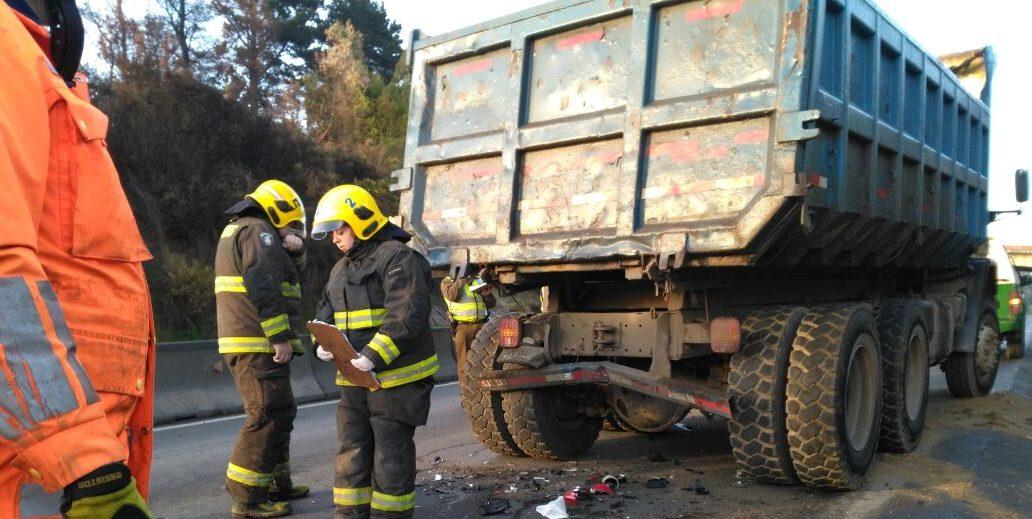 accidente moto camión penco 3