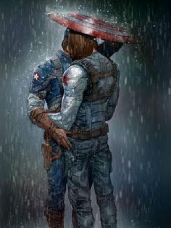 Fan-art del Capitán América y El Soldado del Invierno como pareja.
