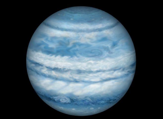 Representación del planeta Kepler-1647. Se cree que es casi idéntico a Júpiter en tamaño y masa | Lynette Cook