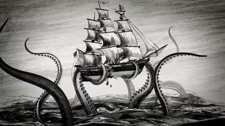 Concepto artístico del Kraken.