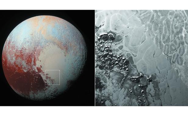 Los procesos de convección en el interior del hielo de Plutón deja marcas en forma de polígonos en la superficie del planeta enano. / NASA/John Hopkings/Physics Lab.